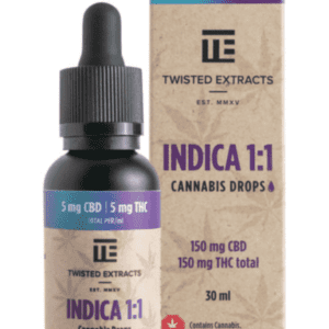 Indica 1:1 Cannabis Oil Drops – By Twisted Extracts